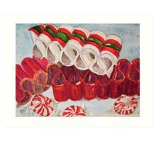 Ribbon Candy Red Art Print