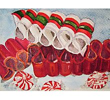 Ribbon Candy Red Photographic Print