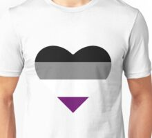 Asexual Pride Heart Unisex T-Shirt