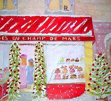 Paris Bakery at Christmas 2 by Loretta Barra