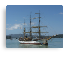 The Picton Castle at Opua, Bay of Islands,  New Zealand......! Canvas Print