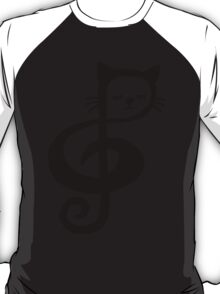 Treble-Clef Cat T-Shirt