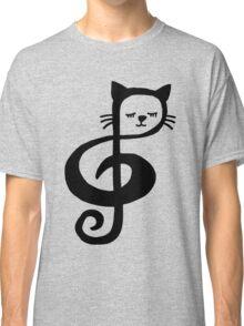 Treble-Clef Cat Classic T-Shirt