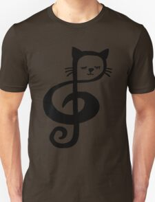 Treble-Clef Cat T-Shirt