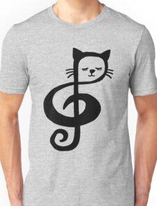 Treble-Clef Cat Unisex T-Shirt