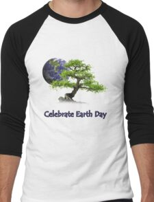 Celebrate Earth Day Men's Baseball ¾ T-Shirt