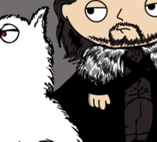 Stewie Griffin is Jon Snow game of thrones Sticker