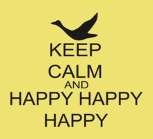 Keep Calm And Happy Happy Happy Kids Tee