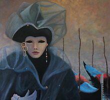 Venetian Girl at Carnival by Howard Sparks