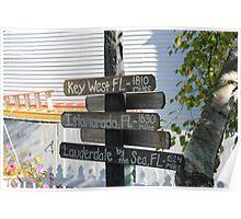 Mackinac Island Sign Poster