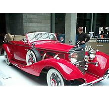 Old Classic Mercedes Photographic Print