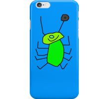 Alien iphone cover in green and blue iPhone Case/Skin