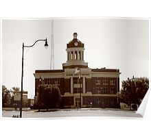 Route 66 - Beckham County Courthouse Poster