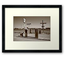 Route 66 Gas Pumps Framed Print