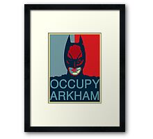 Occupy Arkham Framed Print