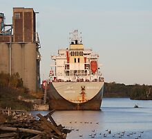 Ship on Kam River by Rochelle Smith