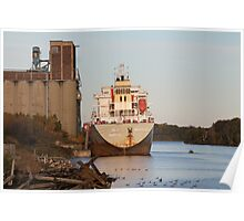 Ship on Kam River Poster