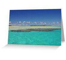 Aitutaki Lagoon, Cook Islands, South Pacific Greeting Card