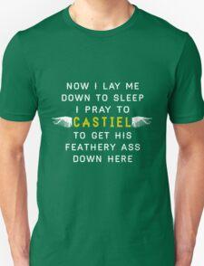 Now I Lay Me Down To Sleep I Pray to Castiel T-Shirt