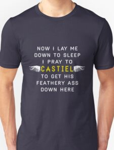 Now I Lay Me Down To Sleep I Pray to Castiel T-Shirt