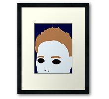 Minimal Michael Myers Framed Print