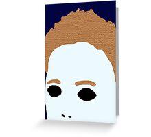 Minimal Michael Myers Greeting Card