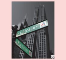 Chicago Street Sign Kids Clothes