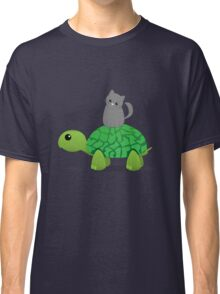 Kitty Riding a Turtle Classic T-Shirt