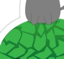 Kitty Riding a Turtle Sticker