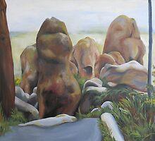 Hanging Rock I by Melati Hewison