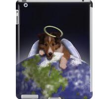 Earth Day Angel Sheltie iPad Case/Skin