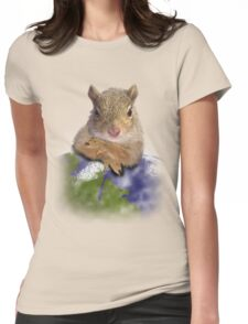 Earth Day Squirrel Womens Fitted T-Shirt
