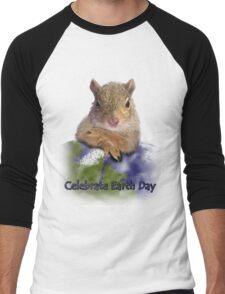 Celebrate Earth Day Squirrel Men's Baseball ¾ T-Shirt