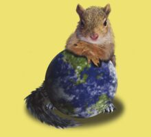 Earth Day Squirrel One Piece - Short Sleeve