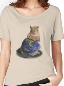Earth Day Squirrel Women's Relaxed Fit T-Shirt