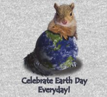 Celebrate Earth Day Everyday Squirrel One Piece - Long Sleeve