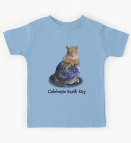 Celebrate Earth Day Squirrel Kids Tee
