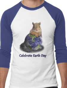 Celebrate Earth Day Squirrel Men's Baseball ¾ T-Shirt