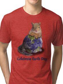 Celebrate Earth Day Squirrel Tri-blend T-Shirt