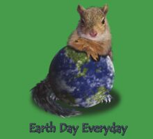 Earth Day Everyday Squirrel One Piece - Short Sleeve
