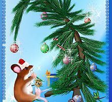 Humble Little Christmas  Mouse Poster by Lotacats