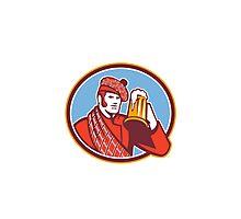 Scotsman Beer Drinker Mug Retro Photographic Print