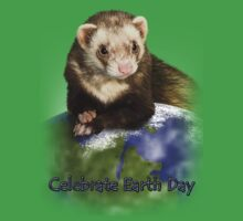 Celebrate Earth Day Ferret One Piece - Short Sleeve