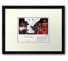 """Beijing"" in words & image (Tarmasz) Framed Print"
