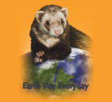 Earth Day Everyday Ferret by jkartlife