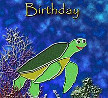 Happy Birthday Sea Turtle by jkartlife