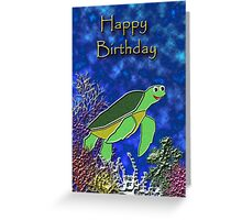 Happy Birthday Sea Turtle Greeting Card