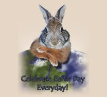 Celebrate Earth Day Everyday Rabbit by jkartlife