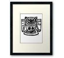 LINEart T-shirt : The Owl Framed Print