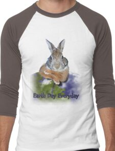 Earth Day Everyday Bunny Men's Baseball ¾ T-Shirt